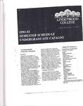1991-1992 Lindenwood College Undergraduate Course Catalog
