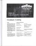 1989-1991 Lindenwood College Graduate Course Catalog