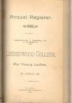 1886-1887 Lindenwood College Course Catalog