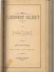 1881-1882 Lindenwood College Course Catalog