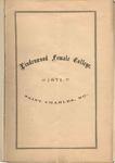 1871-1872 Lindenwood College Course Catalog