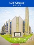 2013-2014 Lindenwood University LCIE Course Catalog