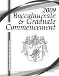 2009 Baccalaureate & Graduate Commencement