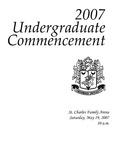 2007 Undergraduate Commencement