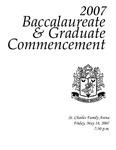2007 Baccalaureate & Graduate Commencement
