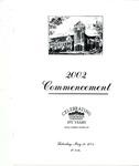 2002 Undergraduate & Graduate Commencement