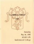 1987 Undergraduate & Graduate Commencement