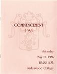 1986 Undergraduate & Graduate Commencement