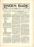 Linden Bark, November 1, 1927